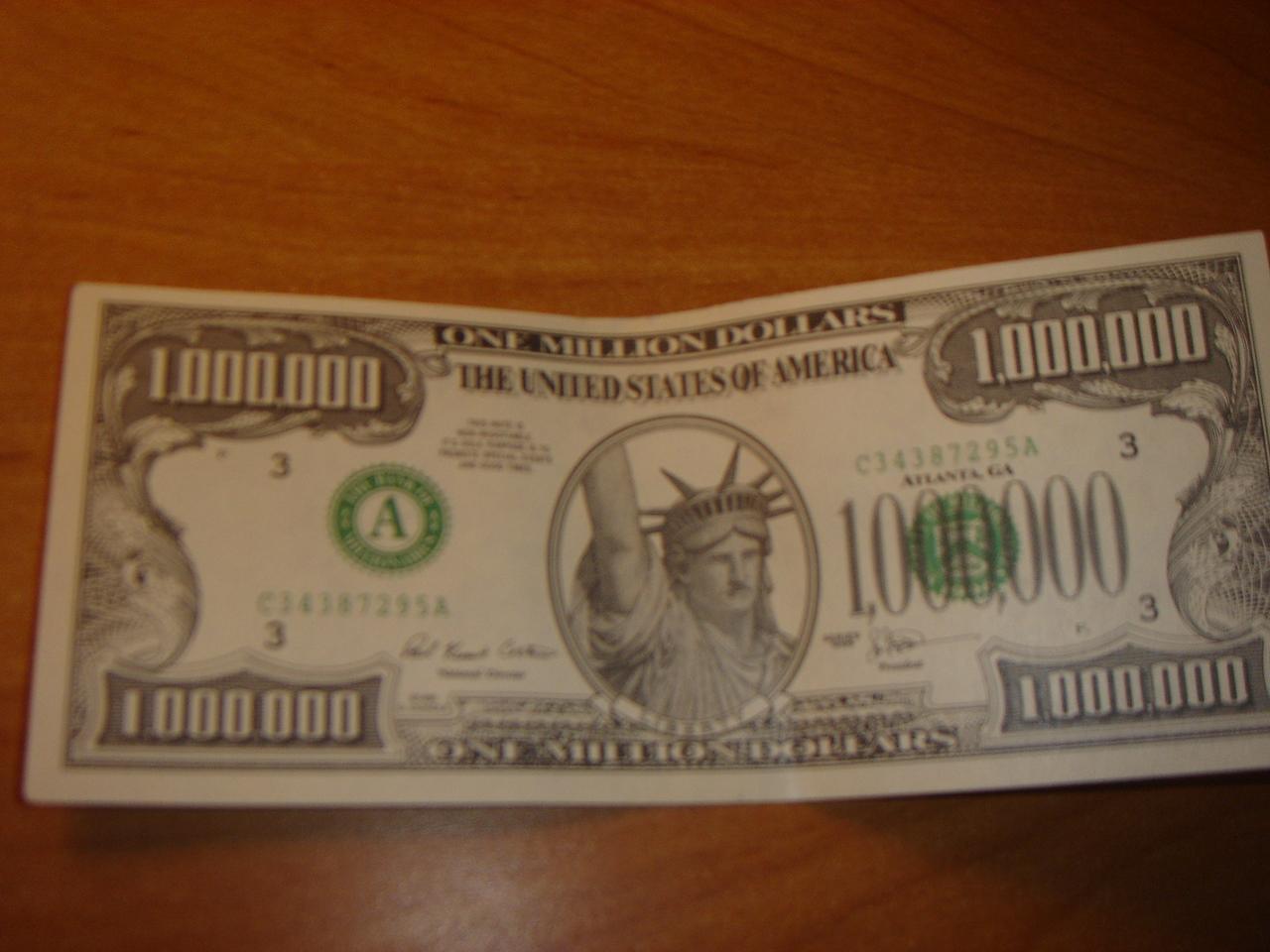 Glücksbringer, 1 Million Dollar Schein, Aberglauben